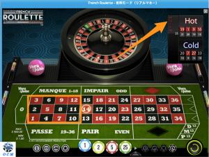 オンラインカジノのかけ時の説明(ルーレット)